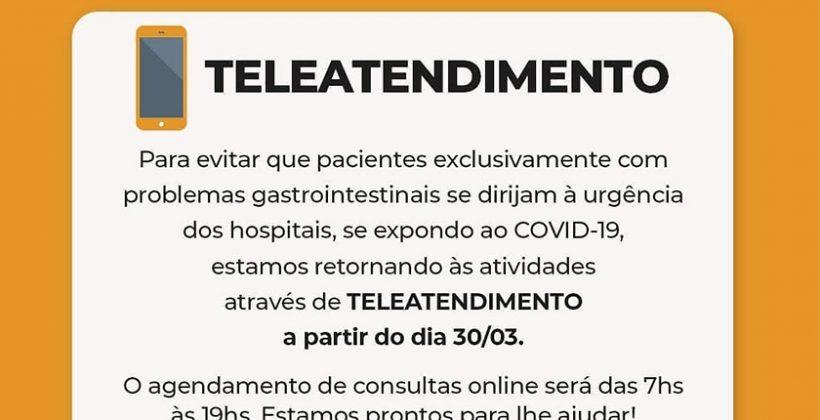 Utilização do Teleatendimento como alternativa em tempos de pandemia é adotado pela Clínica Gastros